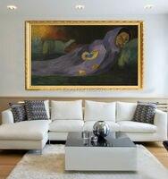 Tuyệt vời Nghệ Sĩ 100% Handmade Top Chất Lượng Ấn Tượng Trừu Tượng Paul Gauguin Oil Painting Các Dreaming Tranh Sơn Dầu Trên Vải Dreaming Bức Tranh