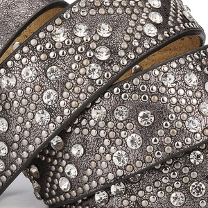 Image 5 - برشام Vintage مصمم الفاخرة فاسق مجموعة اوجير أحزمة النساء عالية الجودة الإناث حقيقي جلد الخصر حزام اليدوية Jeans