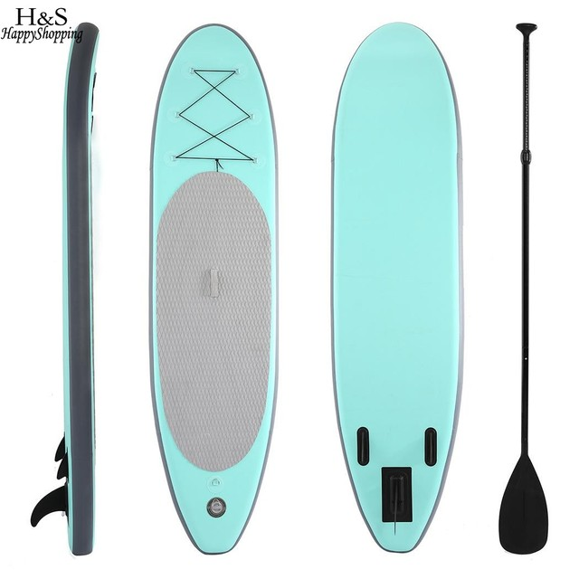 74b594493 305x76x15 cm PVC 10ft Inflável Stand Up Paddle Board SUP com Bomba de Mão  Pá Ajustável