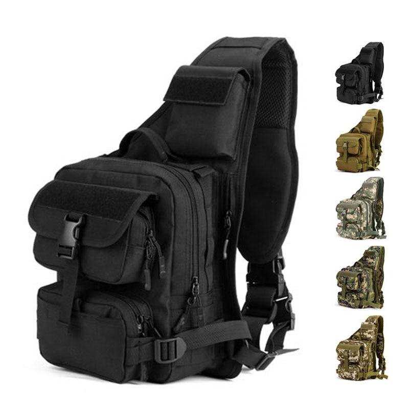 Single Shoulder Army Tactical Backpack Rucksack Military Waterproof Travel <font><b>Bag</b></font> <font><b>Outdoor</b></font> Men Women Hiking Camping Hunting Fishing