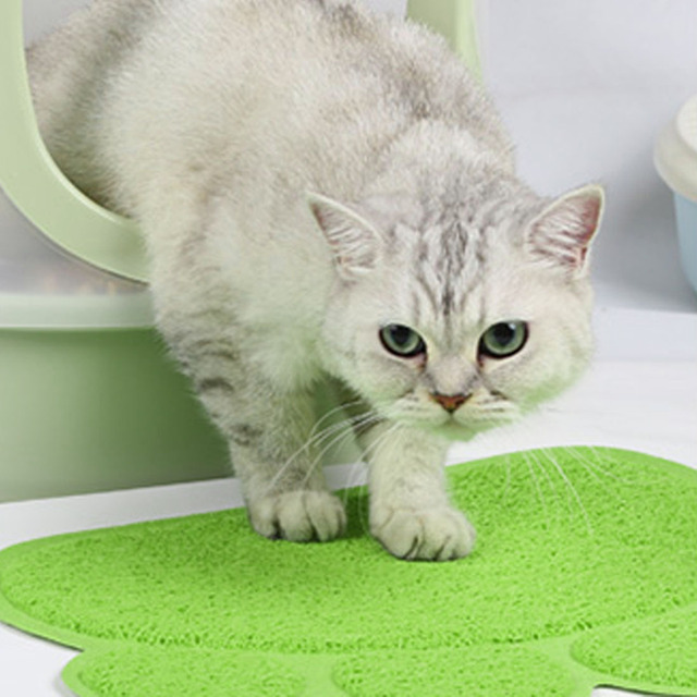 Hot PVC Pet Dog Cat Feeding Mat Pad Cute Paw Pet Dish Bowl Feed Place Puppy Bed Blanket Table Mat Easy Wipe Cleaning