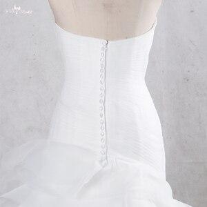 Image 4 - TW0195 vestidos de Boda de Princesa de sirena con falda con volantes vestidos de novia baratos hechos en China