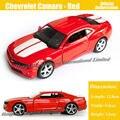 1:36 Escala Diecast Metal de Aleación Modelo de Coche Para Chevrolet Camaro Colección Tire Volver Juguetes de Coches-Rojo