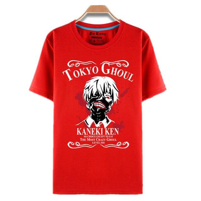 Tokyo Ghoul Cartoon Print Sasuke Ninja Ken Kaneki T-shirt