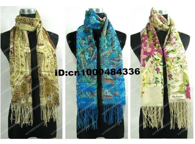 Free shipping! job lots 6 Scarves Shawl Wrap Stole Scarf Cashmere