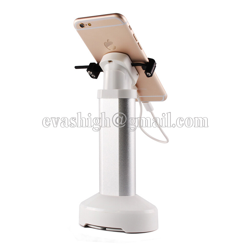 Charging mobile phone anti-theft device phone burglar alarm cell phone security display stand with claw retractable hiden cable wholesale price mobile phone anti theft alarm display stand with charging for exhibition