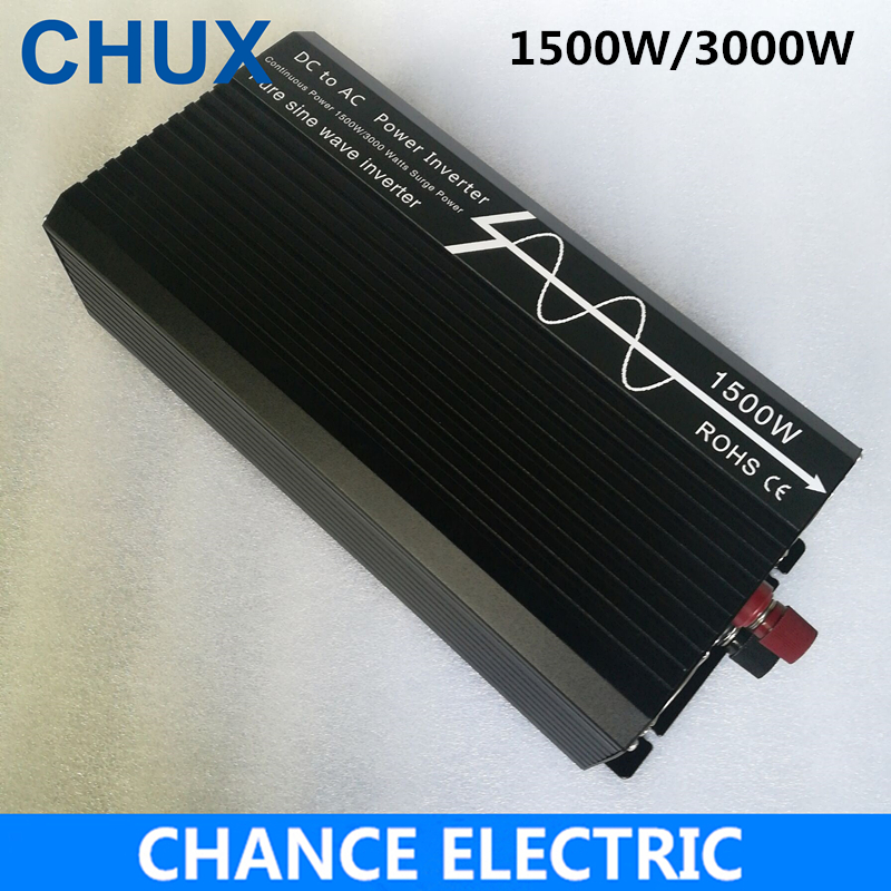 1500W/3000W Pure Sine Wave Inverter DC 12V 24V 48V to AC 110V 220V,Off Grid Inversor Portable 1500W/3000W Power Inverter shine series modified sine wave inverter 1500w clm1500a dc 12v 24v to ac 110v 220v 1500w surge power 3000w