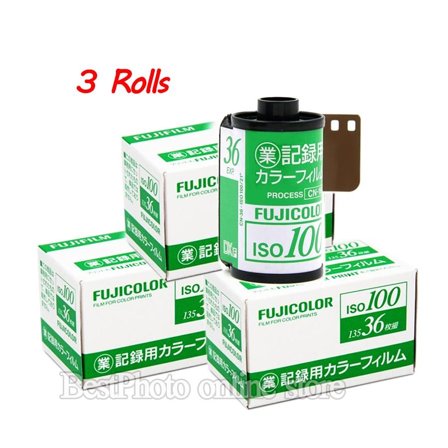 3 Rolls Fujifilm Fujicolor 135 color Film 100 Exposure for 135 Format Camera Lomo Holga 135 BC Lomo Camera Dedicated