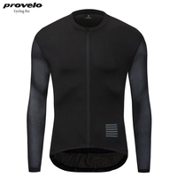 2019 Mens Pro Team Cycling Jersey Long Sleeve Bike New Mesh Fabric Ropa Maillot Ciclismo Hombre Black Color Cycling Clothing