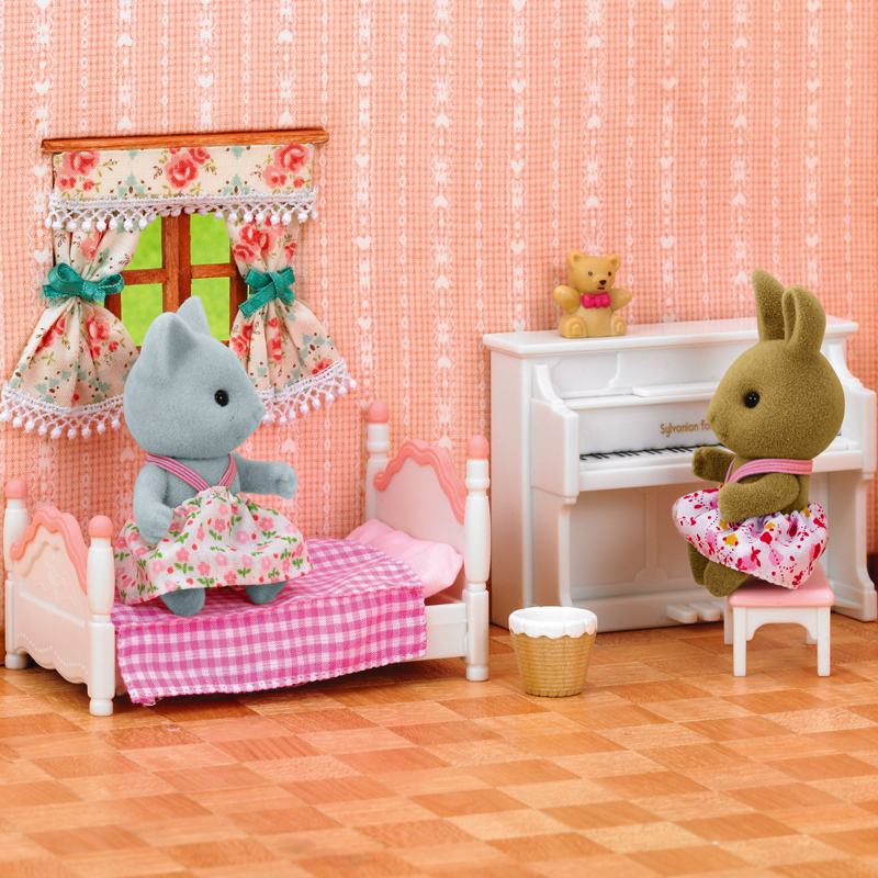 New Arrival sylvanian Family rabbit sister honey room bathroom ...