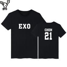 BTS Kpop K-pop Top Short Sleeve Tshirt Men Brand Summer Style Kpop EXO Tee Shirt Men Cotton Fashion Black T-shirt Women