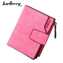 Cute baellerry Women Wallets PU Leather High Quality Short Design Card Holder Female Vintage Purse Coin