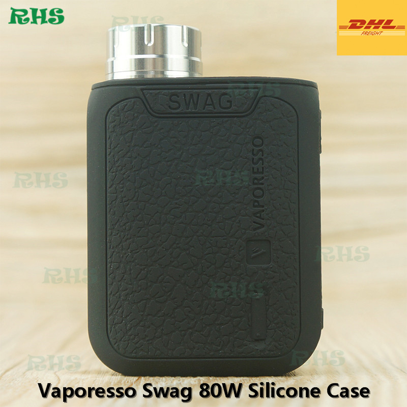 50pcs/lot Free DHL RHS In Stock New products 2017 innovative Product Silicone Case Cover for 100% original Vaporesso Swag 80W