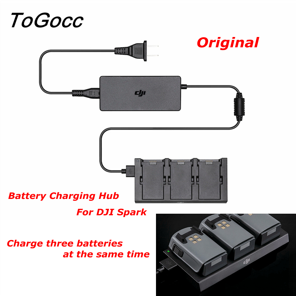 DJI Spark Battery Charging Hub Drone Charger Charge Part 7 Black For Intelligent Flight Battery Original dji spark drone 3 in 1 car charger battery charging