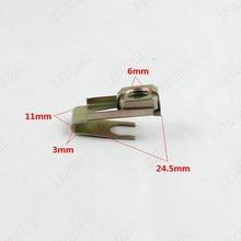 2215 Скорость Металлический Цинк U-клипы Grommet Орехи Размер 6 мм Крепление Кузова Клип Фиксатор (100 шт.)