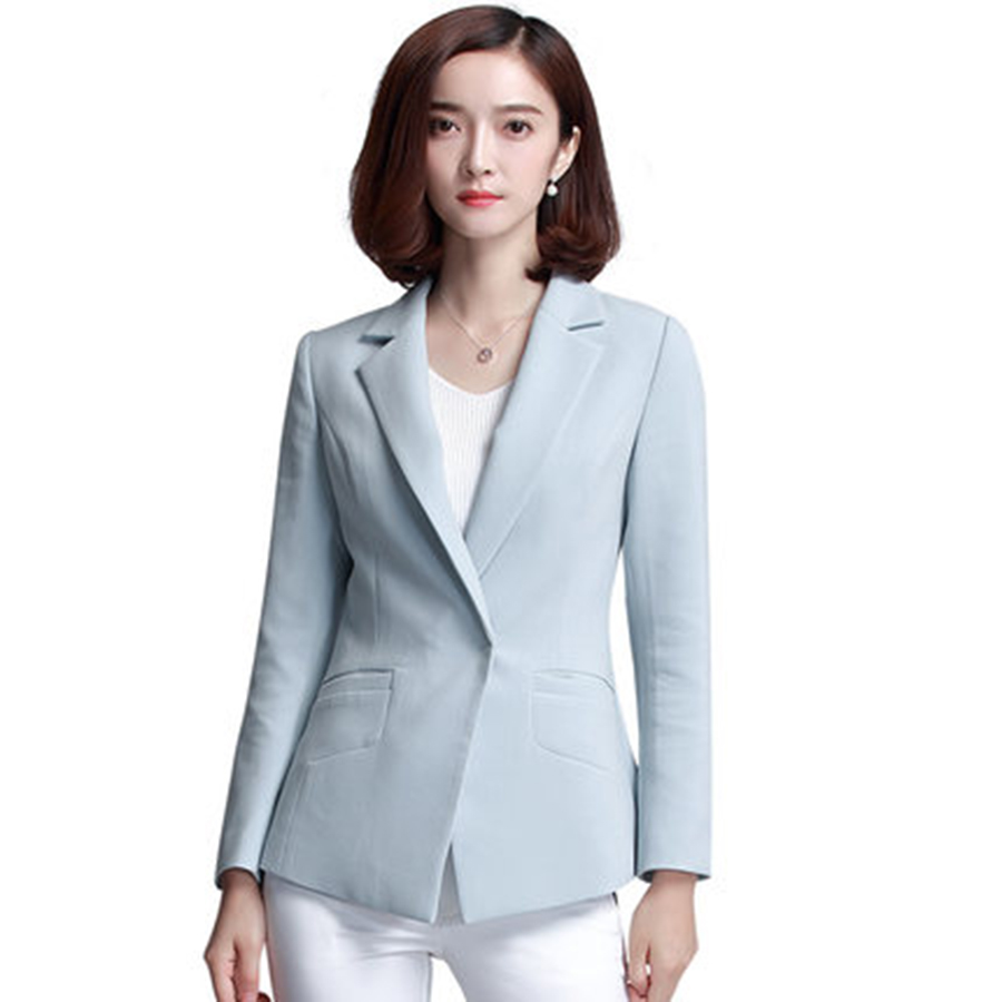 Women Casual Suit jacket Coat Outwear Blazer One Button Blazer Ladies Elegant Office Business Suits Mulheres Blazer Suit 50N0023