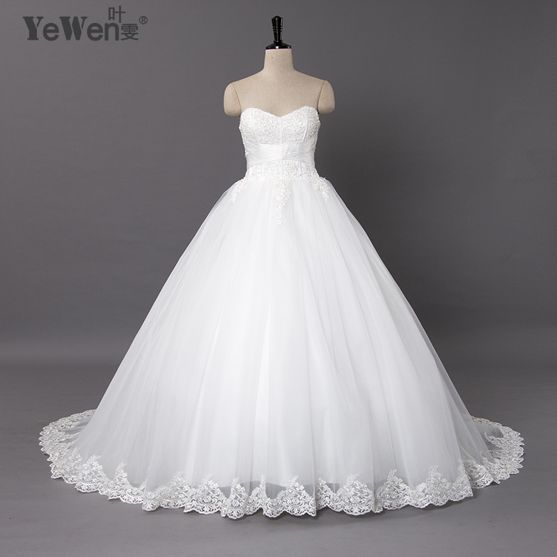 Yewen Beach Ball Gown Plus Size Lace Cheap Wedding Dresses 2018 Vestidos De  Novia De Renda African Wedding Gowns Robe Mariage In Wedding Dresses From  ...