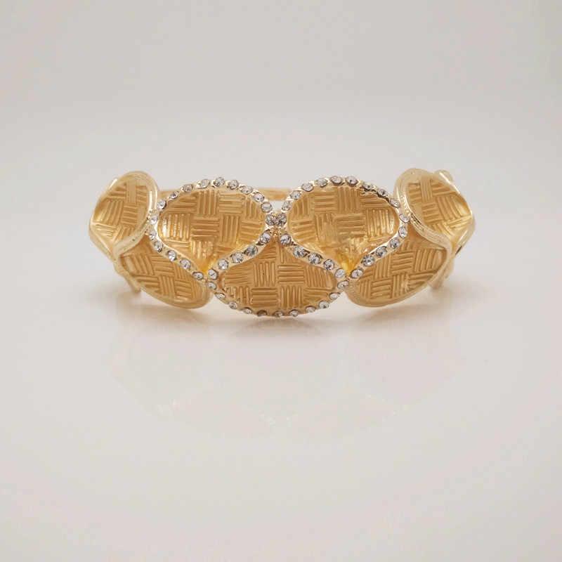 Мама Королевства верхней Дубай золото Цвет Ювелирные наборы Нигерии Свадебный африканские Кристалл Цепочки и ожерелья браслет серьги кольцо большой набор ювелирных изделий