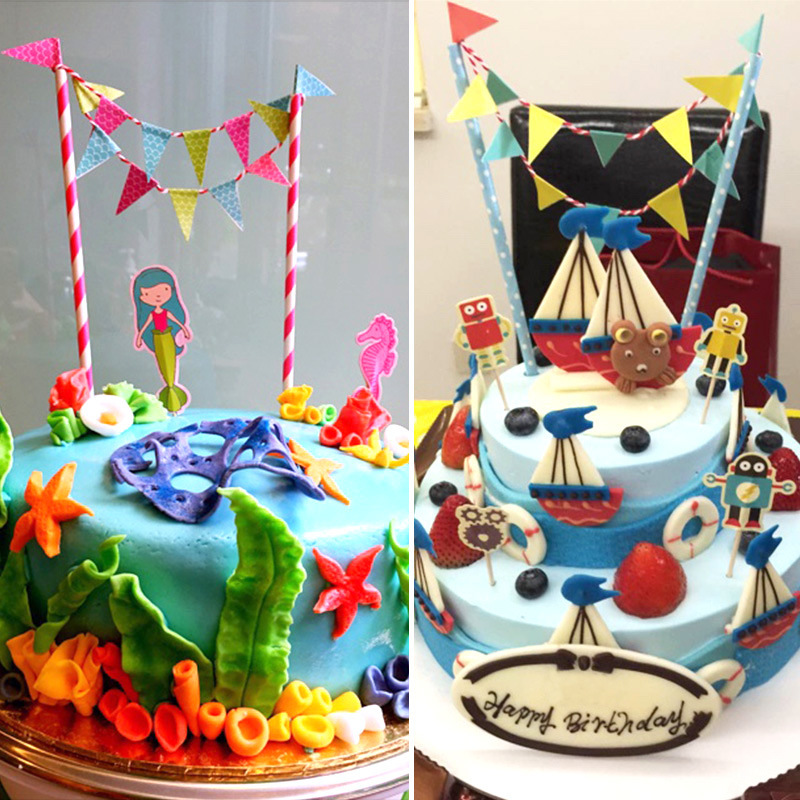 Pirate Birthday Cake Topper Birthday Party Decorations Kids Birthday Party Supplies Baby Shower Boy In Cake Decorating Supplies From Home Garden On