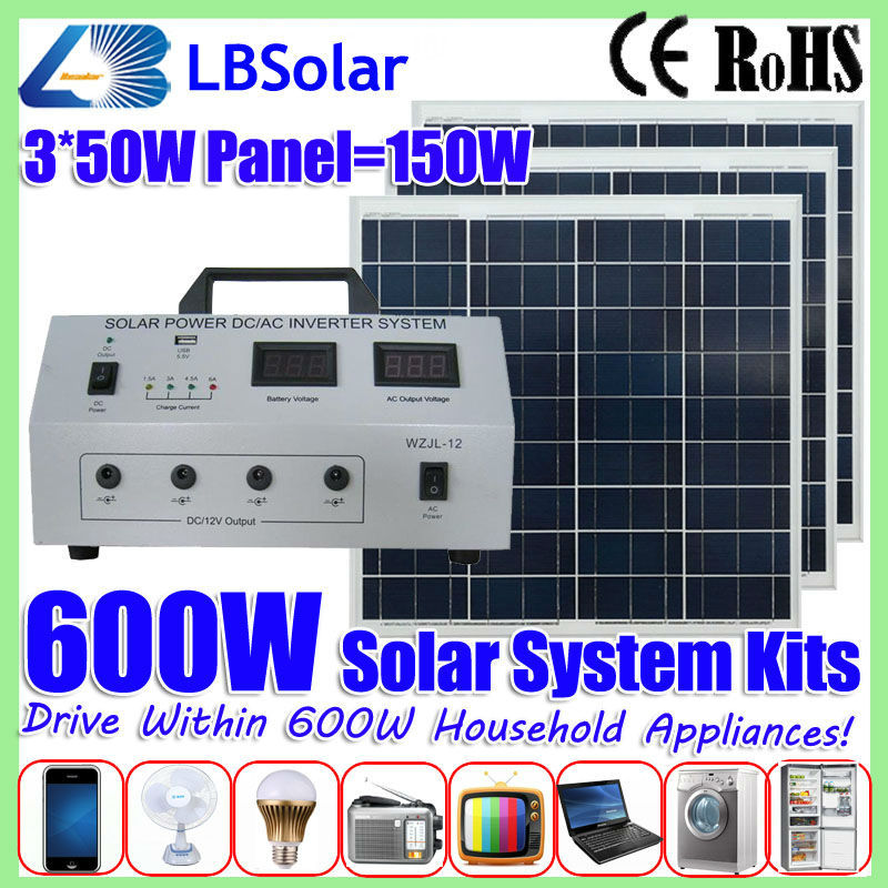 LBSolar 600W Portable Household Solar System for Home Electric ...