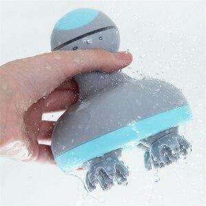 Image 4 - Youpin mini cabeça massager 3d estéreo massagem em dois sentidos surround quatro rodas rotação 6 tipos de massagem manual instrumento de massagem