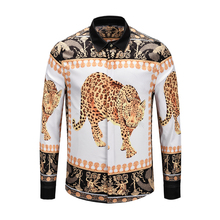 Newest Style Hawaiian Shirt Mens Fashion Luxury Shirts Long Sleeve 3d Print Leopard High Quality Famous Brand Turn-down Collar