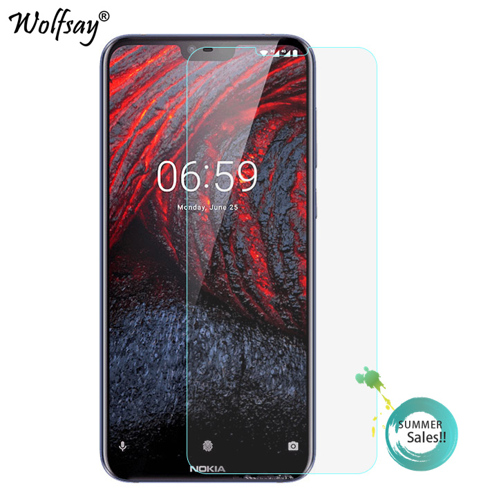 2PCS Glass For Nokia X6 2018 Screen Protector For Nokia X6 2018 Tempered Glass For Protective Film For Nokia 6.1 Plus Film Glass