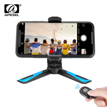 APEXEL 360 Rotation Vertical Shooting 2 in 1 Mini Tripod Phone Mount Holdr for iPhone Xs Max Xs X 8 7 Plus Samsung S8 S9