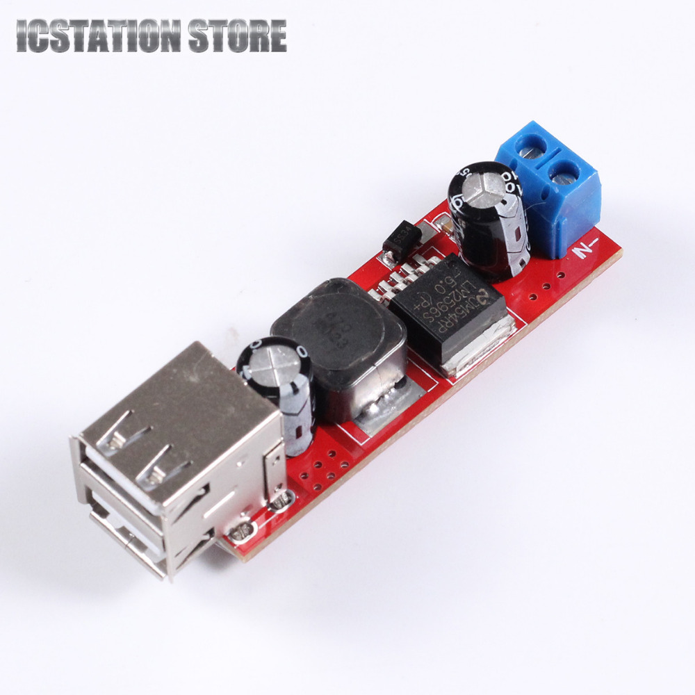 DC to DC Voltage Regulator Step Down Buck Converter Module 9V 12V 24V 36V to 5V 3A Dual USB Port Output for Vehicle Charger dc 3 2 40v to dc 1 2 35v 3a auto step down lm2596s converter voltage regulator black