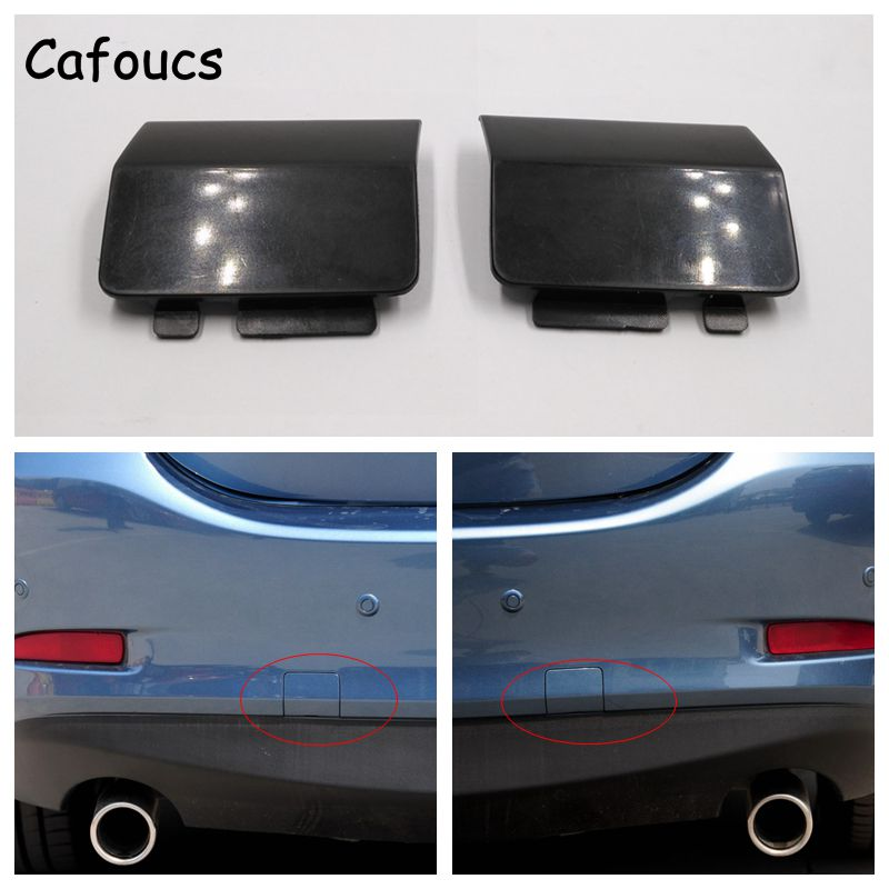Cafoucs For <font><b>Mazda</b></font> <font><b>6</b></font> 2012 2013 2014 2015 <font><b>Rear</b></font> <font><b>Bumper</b></font> Towing Hook Decoration <font><b>Cover</b></font> Cap GJR950EL151 image