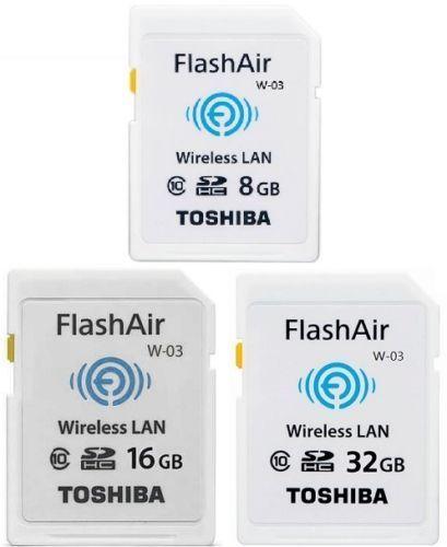 TOSHIBA Flash III W-03 Carte mémoire 32 GB 16 GB wifi Carte SD classe 10 sans fil Carte mémoire SDHC Tarjeta sd Carte SD WIFI pour appareil photo
