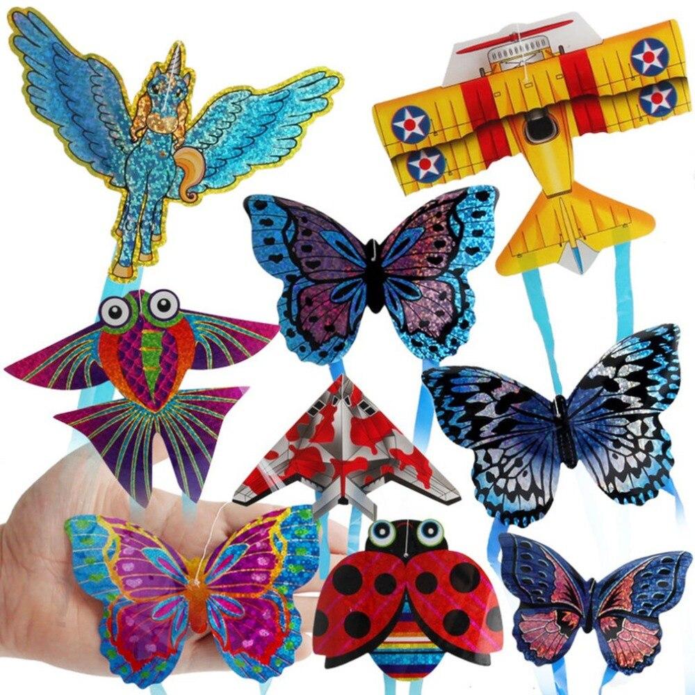 Детские мини-игрушки, для раннего развития, с бабочкой, насекомыми, пегасом, самолётами, миниатюрный воздушный змей, для детей, для улицы, для...