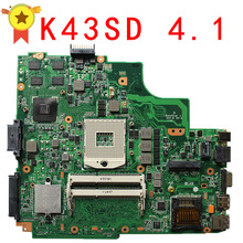 K43SD X43S A43SD Laptop Motherboard Rev 4.1 Non-Integrated System Board 100% Test Mainboard Notebook
