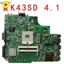 K43SD X43S A43SD Ноутбук материнских плат REV 4.1 неинтегрированный Системы доска 100% Тесты плата Тетрадь