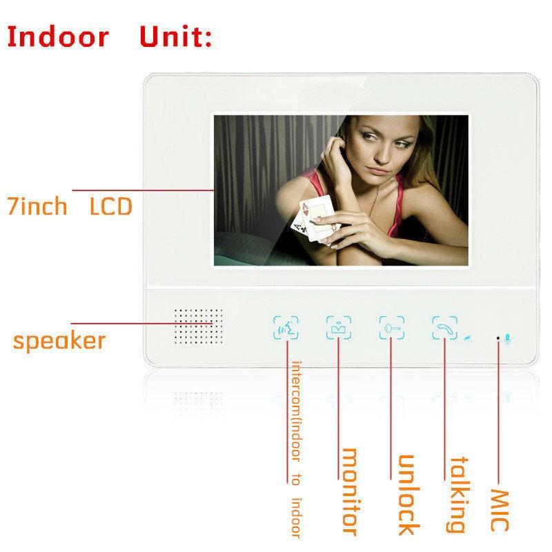 Yobang безопасности Бесплатная доставка 7 Видеодомофоны Дверные звонки телефон двери квартиры + 3 мониторы ИК Камера для 3 Семья видео-телефон ...