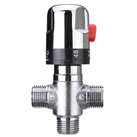 22MM Hot Cold Thermostatic Mixing Valve 3 Way Temperature Control Valve For Shower Control Mixer Water