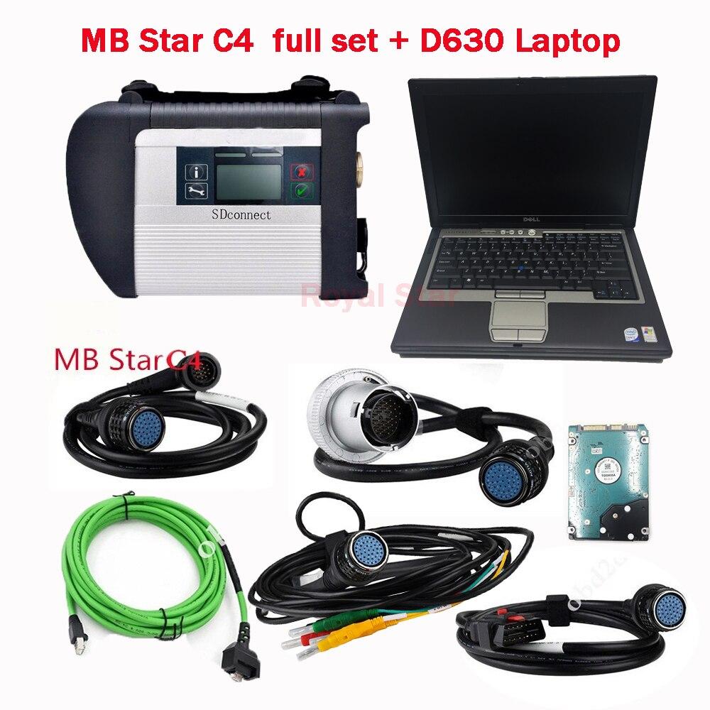 Автомобиль диагностический сканер мб звезда C4 с HDD V9.2018 установки программного обеспечения compeleted с дополнительной функции и D630 PC комплект г...