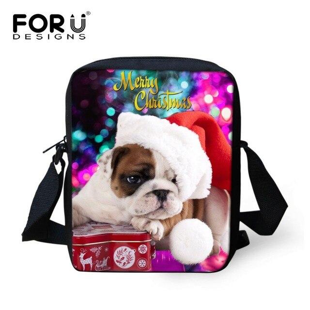 8711912bd2f9 FORUDESIGNS Women Men Messenger Bags Cute Dog Cat Print Crossbody Bag  Casual Mini Travel Shoulder Bags Children Christmas Gifts