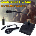 Free Shipping Professional Desktop Wired Condenser Gooseneck Conference Mic Meeting Microphone System For Computer PC Teaching