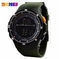 Skmei 0989 hombres de lujo del reloj elegante reloj de pulsera del deporte del silicón del reloj digital de moda militar del ejército automático reloj de calidad superior