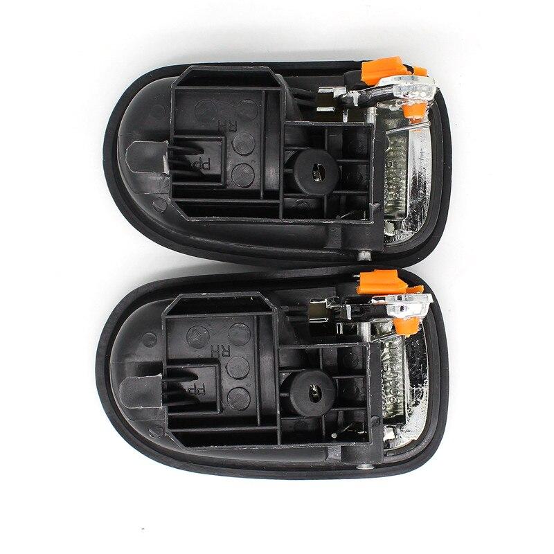 Larbll New 4pcs Left Right Inside Interior Door Black Handle For