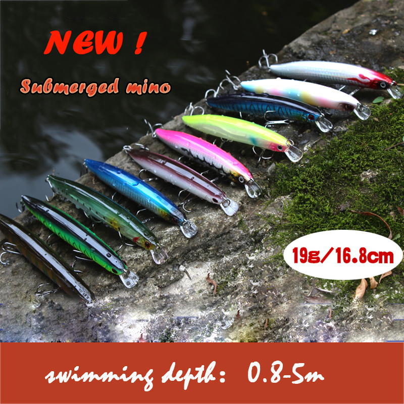 Minnow 3D Casting Trolling 1Piece Big Pencil Fishing Lures Hard Bait 2 # VCM Treble Fishing Hooks for Topwater Fishing 138mm 19g