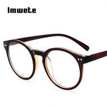 9e4eb936f8506 Imwete Rodada Do Vintage Óculos de Armação Mulheres Homens de Luxo Da Marca  Óculos De Grife