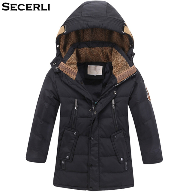 Big Promo 2018 New Boys Winter Coat 5 to 15 Years White Duck Down Kids Boys Winter Jacket Windproof Hooded Children OutWear Warm Clothes