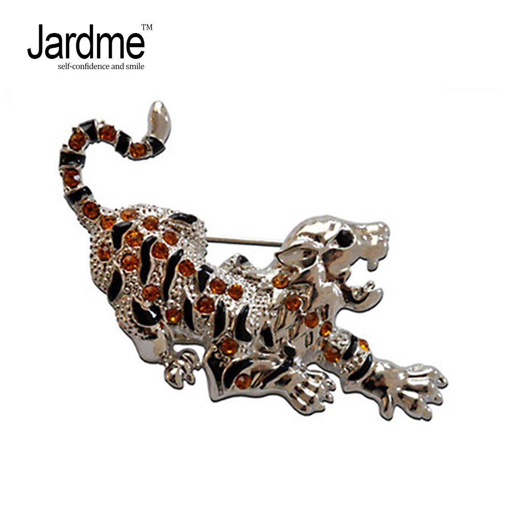 Jardme Unisex Crystal Rhinestone Cheetah Brooch Pin Sex Animal Costume Fashion Jewelry A ...