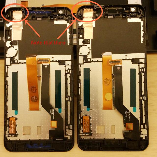 Blanco/negro/azul de una sola tarjeta de doble tarjeta sim pantalla lcd de pantalla táctil digitalizador + frame para htc desire 626 626g 626 w