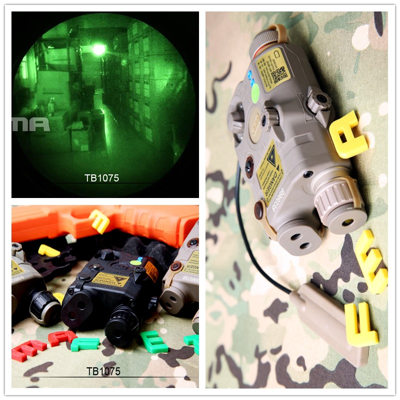 Tactical FMA PEQ LA5 C Upgrade Version LED White light Green laser with IR Lenses BK