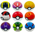 Pocket monster Trainer 9 Pieces Plastic Super Anime Figures Balls Kids Toys Balls