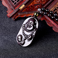Counter light natural ice Rainbow Obsidian boy looking Buddha Pendant Jewelry and ensure the safety of evil