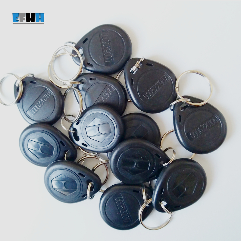 125KHZ TK4100/EM4100 ID Keyfobs RFID Key Tag Read Only Key Ring In Access Control Card